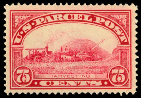 Costs of US Stamp Scott Cat. Q11: 75c 1913 Parcel Post. Daniel Kelleher Auctions, Dec 2014, Sale 661, Lot 475