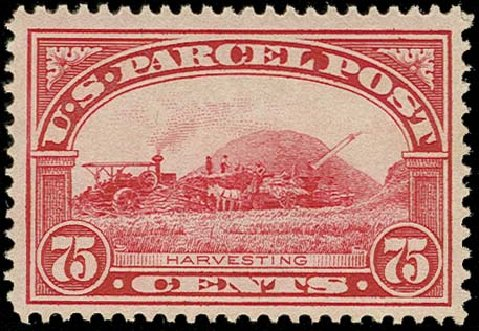 Cost of US Stamps Scott Catalogue Q11 - 75c 1913 Parcel Post. H.R. Harmer, Oct 2014, Sale 3006, Lot 1542