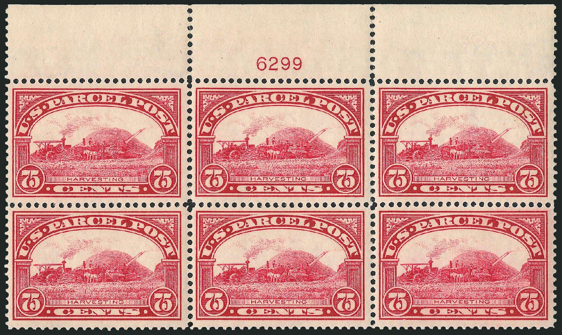 US Stamp Values Scott Catalog #Q11 - 75c 1913 Parcel Post. Robert Siegel Auction Galleries, Apr 2009, Sale 971, Lot 2202