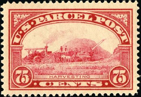 Values of US Stamp Scott Cat. #Q11 - 1913 75c Parcel Post. Spink Shreves Galleries, Jan 2015, Sale 150, Lot 272