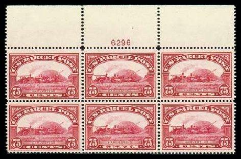 Values of US Stamp Scott Catalog #Q11 - 1913 75c Parcel Post. Matthew Bennett International, Dec 2007, Sale 325, Lot 2553