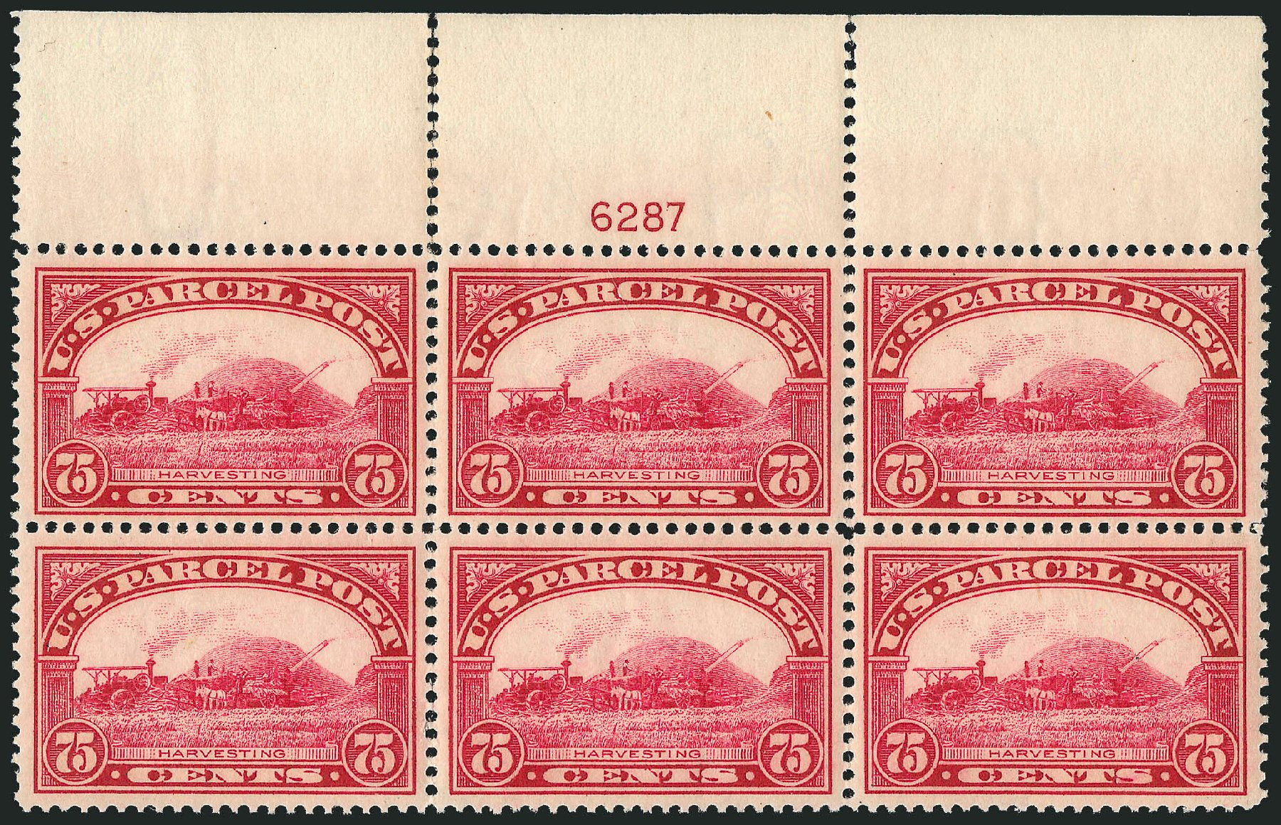 US Stamp Price Scott Catalogue #Q11: 1913 75c Parcel Post. Robert Siegel Auction Galleries, Mar 2015, Sale 1094, Lot 293