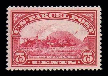 Costs of US Stamps Scott Catalogue #Q11: 75c 1913 Parcel Post. Matthew Bennett International, Jun 2007, Sale 319, Lot 1766