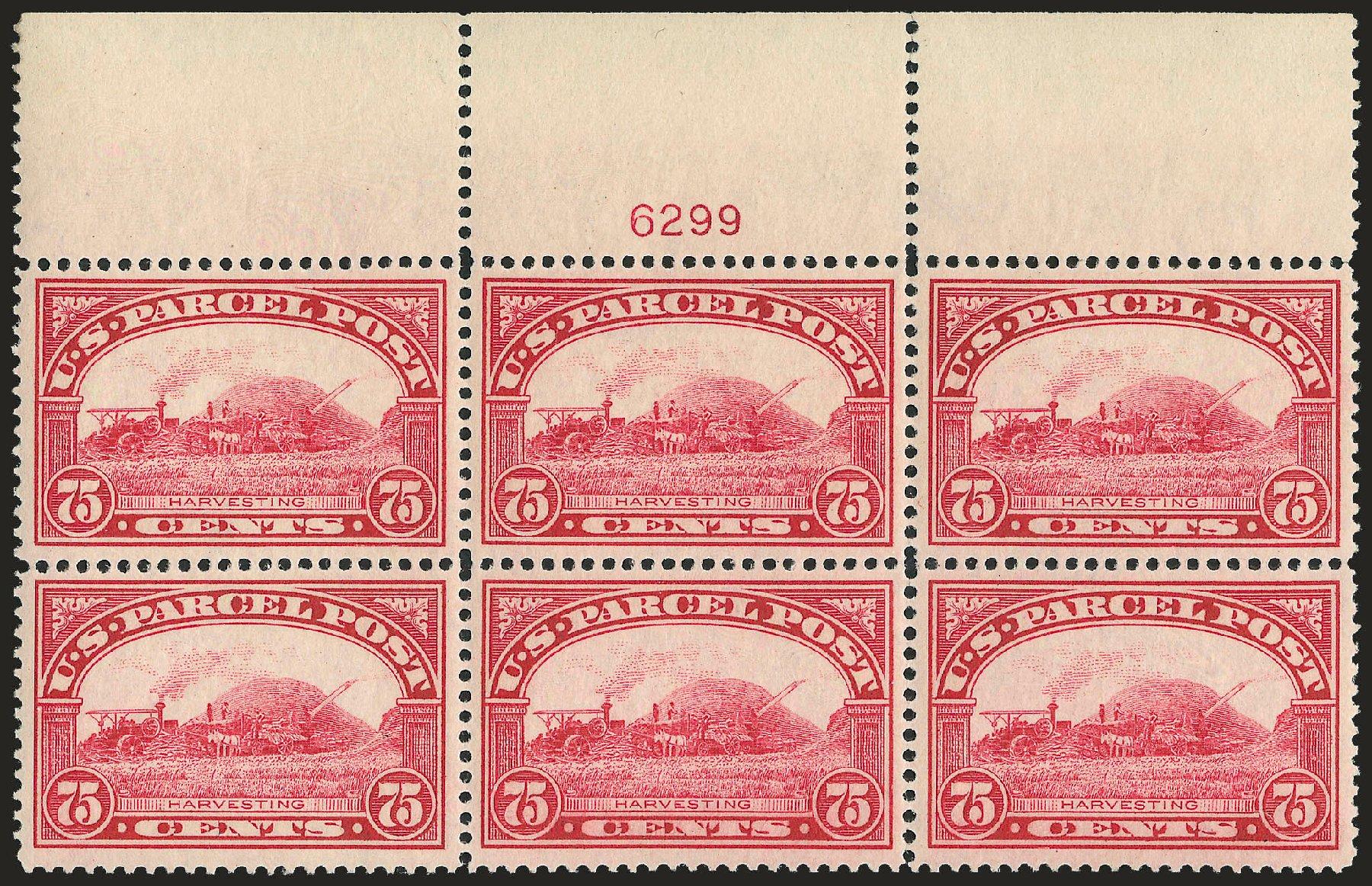 Costs of US Stamps Scott Catalogue Q11: 1913 75c Parcel Post. Robert Siegel Auction Galleries, Dec 2008, Sale 967, Lot 5186