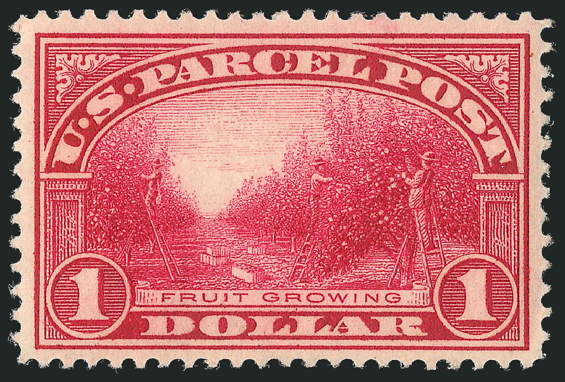 Price of US Stamp Scott Catalog #Q12 - 1913 US$1.00 Parcel Post. Robert Siegel Auction Galleries, Feb 2015, Sale 1092, Lot 1477