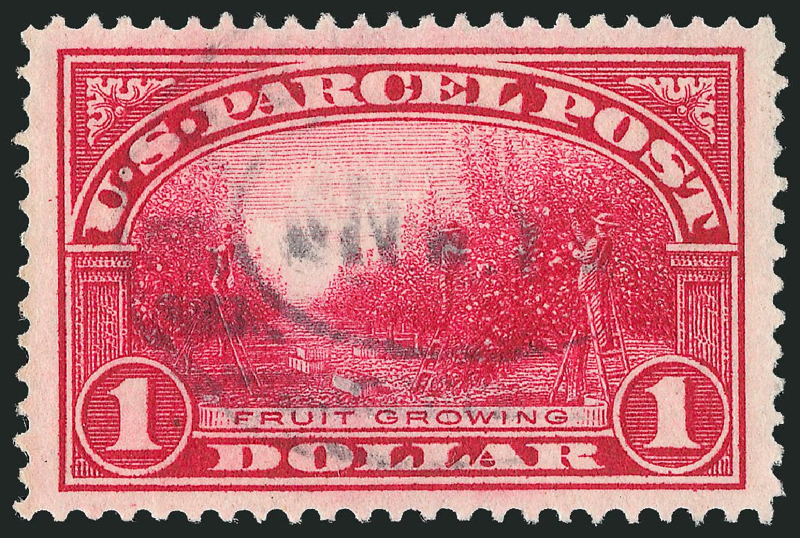 US Stamp Values Scott Q12: 1913 US$1.00 Parcel Post. Robert Siegel Auction Galleries, Mar 2015, Sale 1094, Lot 297