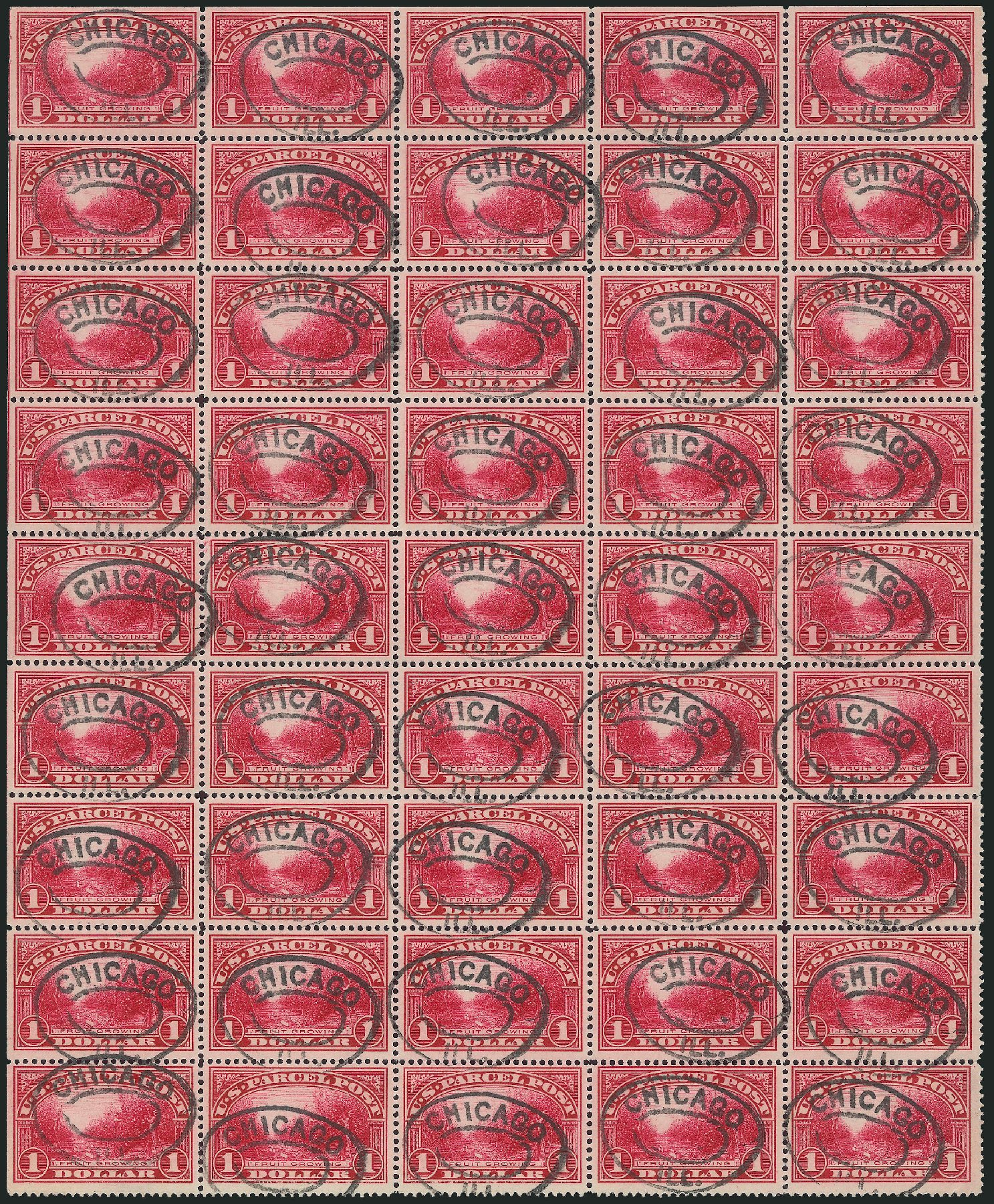 US Stamp Value Scott Q12: 1913 US$1.00 Parcel Post. Robert Siegel Auction Galleries, Mar 2015, Sale 1094, Lot 298