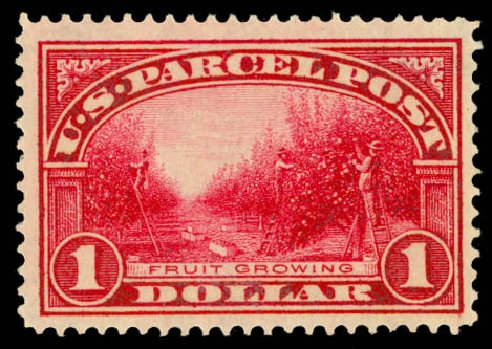 Price of US Stamp Scott Catalogue # Q12: 1913 US$1.00 Parcel Post. Daniel Kelleher Auctions, Aug 2015, Sale 672, Lot 3029