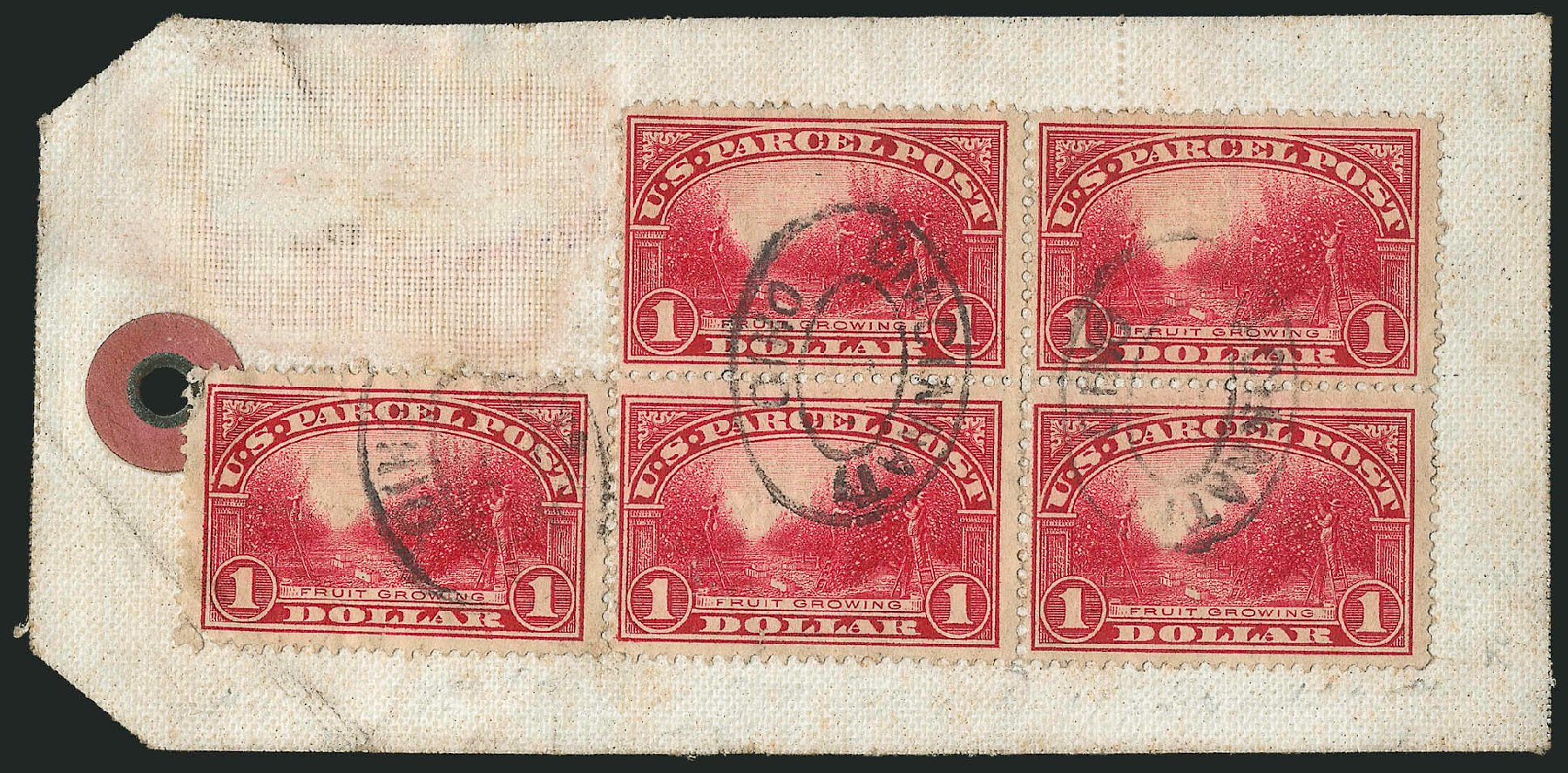 US Stamp Value Scott Catalogue Q12 - 1913 US$1.00 Parcel Post. Robert Siegel Auction Galleries, Mar 2015, Sale 1094, Lot 299