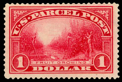 Costs of US Stamps Scott Catalog # Q12: US$1.00 1913 Parcel Post. Daniel Kelleher Auctions, Jan 2015, Sale 663, Lot 2190