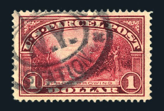Prices of US Stamps Scott Q12: 1913 US$1.00 Parcel Post. Harmer-Schau Auction Galleries, Aug 2015, Sale 106, Lot 2181