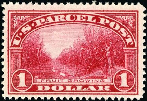 Prices of US Stamps Scott Catalogue Q12 - 1913 US$1.00 Parcel Post. Spink Shreves Galleries, Jan 2015, Sale 150, Lot 273