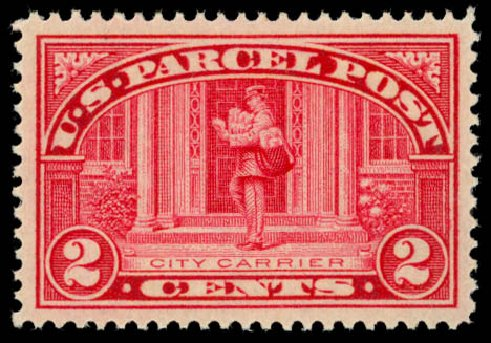 Values of US Stamp Scott Catalogue Q2: 1913 2c Parcel Post. Daniel Kelleher Auctions, May 2014, Sale 653, Lot 2327