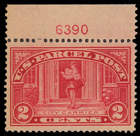 Cost of US Stamp Scott Catalog Q2 - 1913 2c Parcel Post. Daniel Kelleher Auctions, Aug 2012, Sale 631, Lot 1788