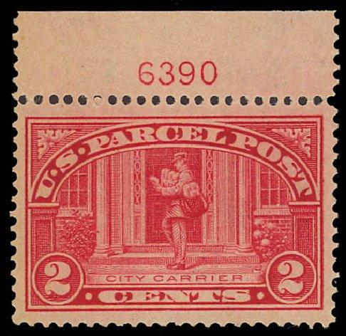 Cost of US Stamp Scott Catalog Q2 - 1913 2c Parcel Post. Daniel Kelleher Auctions, Aug 2012, Sale 631, Lot 1788