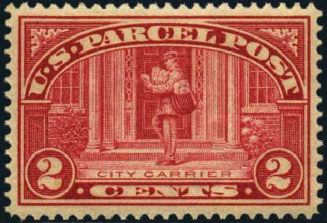 Prices of US Stamp Scott Q2 - 2c 1913 Parcel Post. Harmer-Schau Auction Galleries, Jan 2013, Sale 96, Lot 729