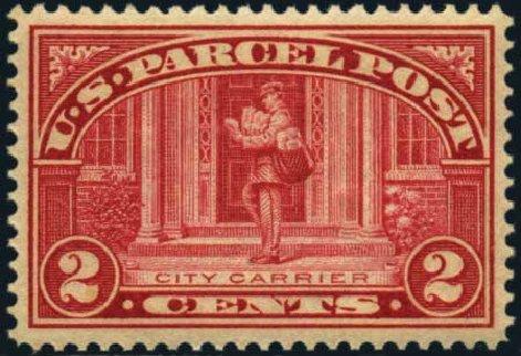 Prices of US Stamp Scott Q2 - 2c 1913 Parcel Post. Harmer-Schau Auction Galleries, Jan 2013, Sale 96, Lot 729
