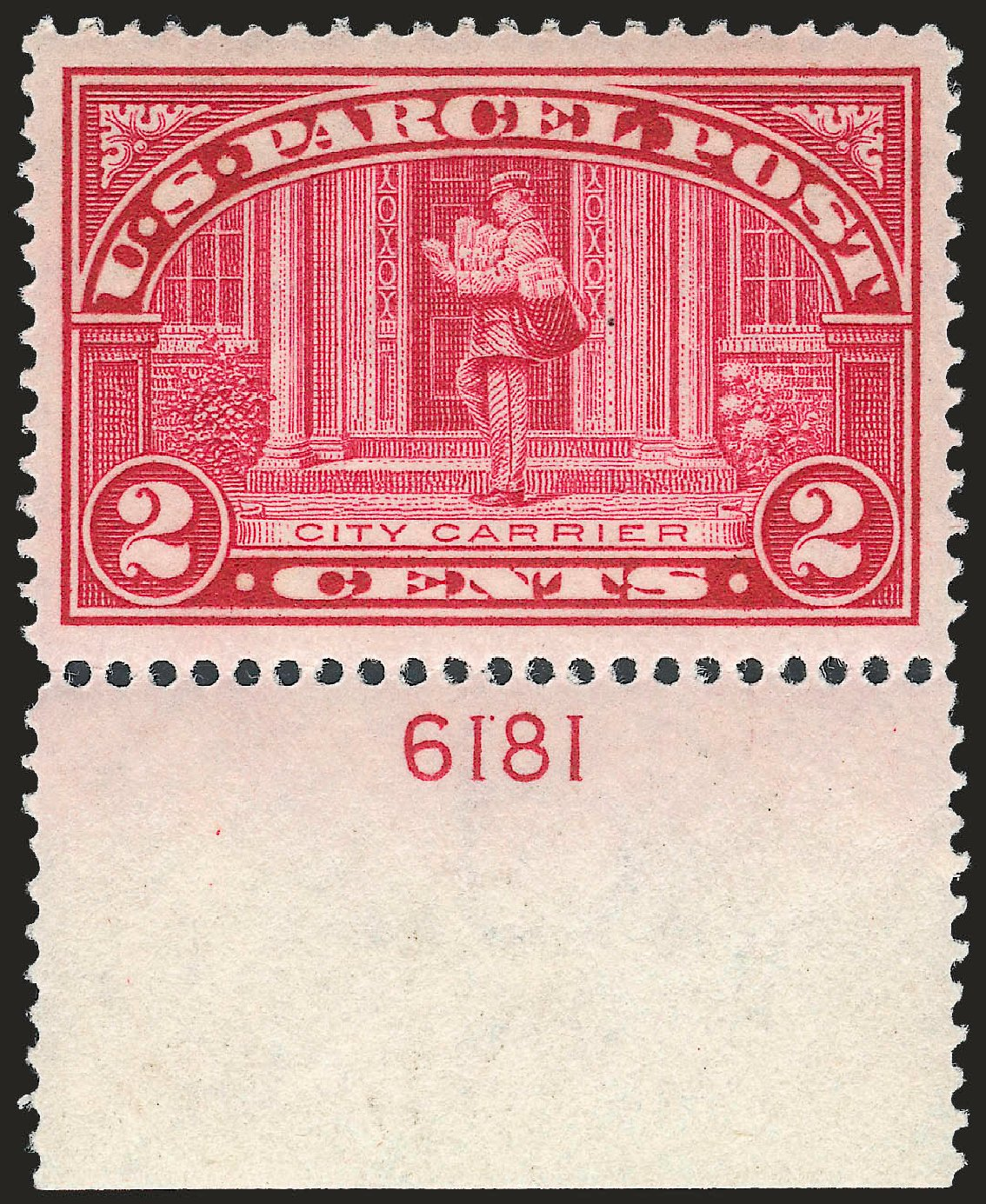 Values of US Stamp Scott # Q2: 1913 2c Parcel Post. Robert Siegel Auction Galleries, Jun 2010, Sale 992, Lot 2660