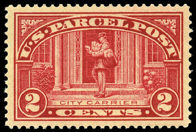 US Stamp Value Scott Cat. Q2 - 2c 1913 Parcel Post. Matthew Bennett International, May 2014, Sale 350, Lot 711