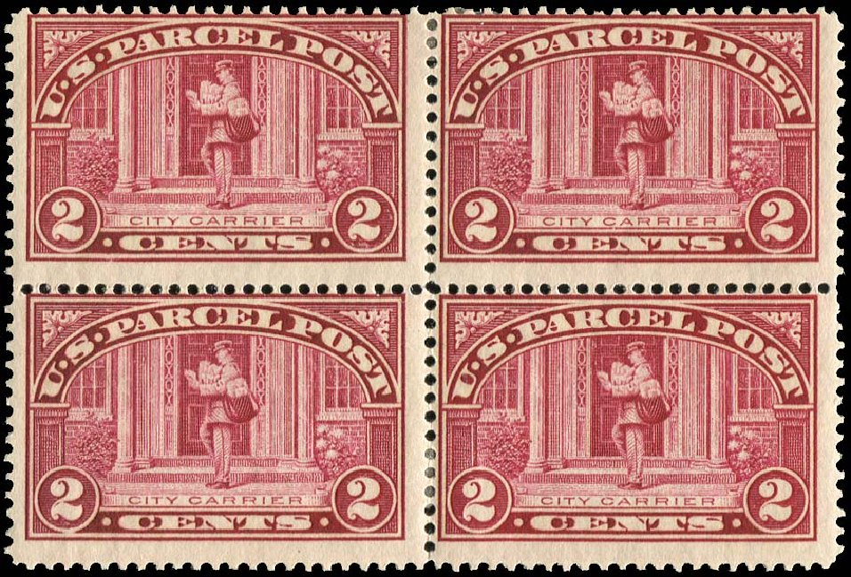 Cost of US Stamp Scott # Q2: 2c 1913 Parcel Post. Regency-Superior, Nov 2014, Sale 108, Lot 1581