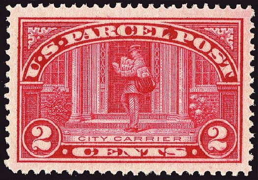 Value of US Stamp Scott #Q2 - 1913 2c Parcel Post. Spink Shreves Galleries, Jan 2014, Sale 146, Lot 534