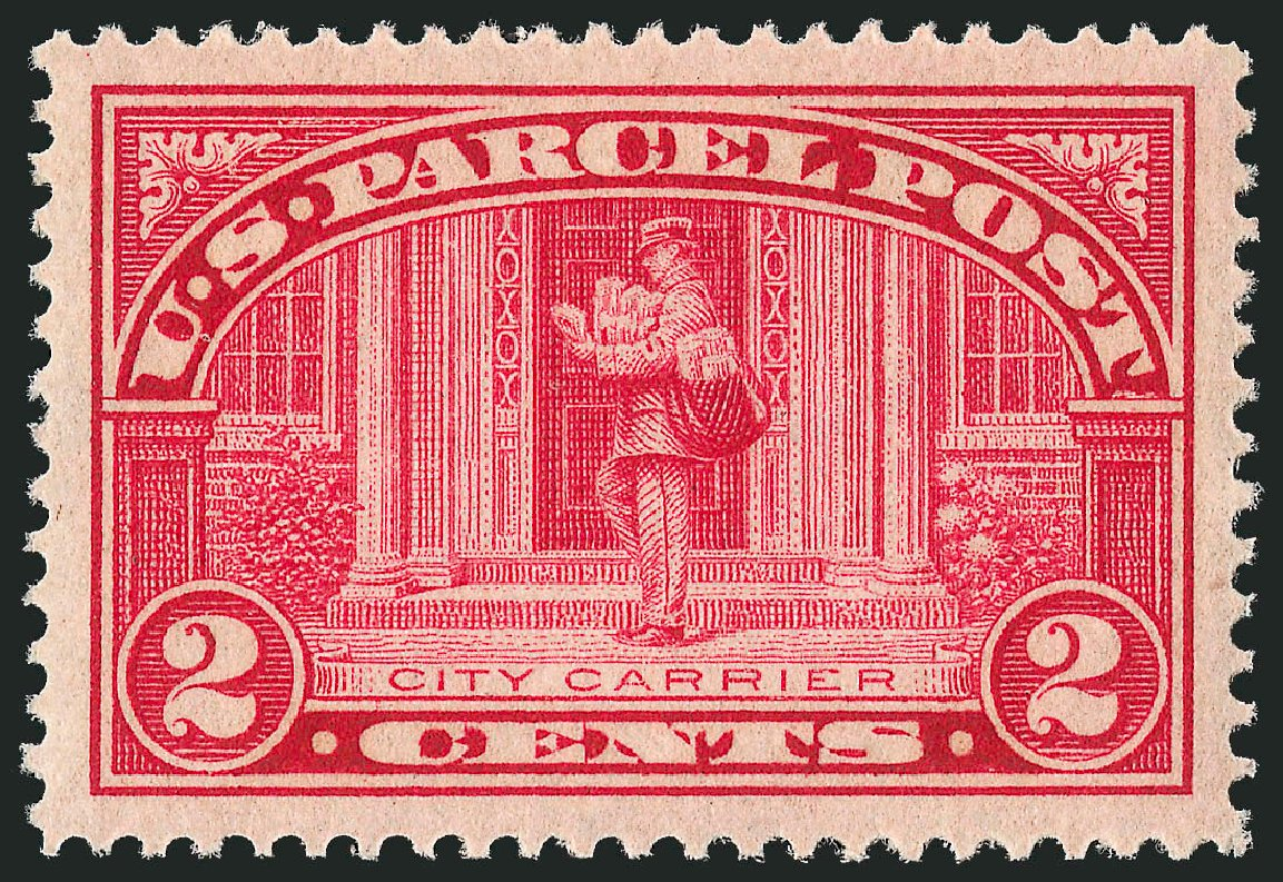 Values of US Stamp Scott Cat. #Q2 - 1913 2c Parcel Post. Robert Siegel Auction Galleries, Dec 2010, Sale 1000, Lot 1295