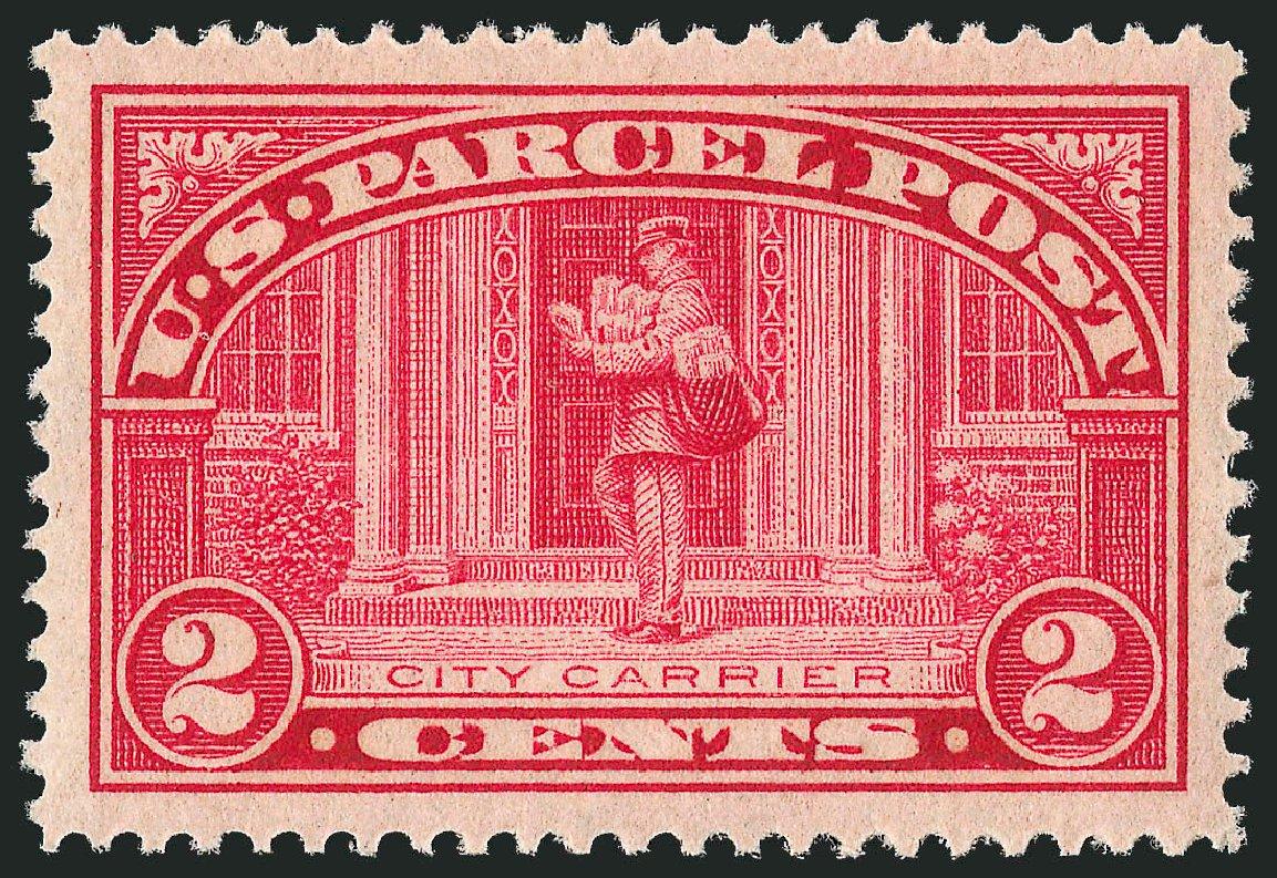 Values of US Stamp Scott Cat. #Q2 - 1913 2c Parcel Post. Robert Siegel Auction Galleries, Dec 2010, Sale 1000, Lot 1295