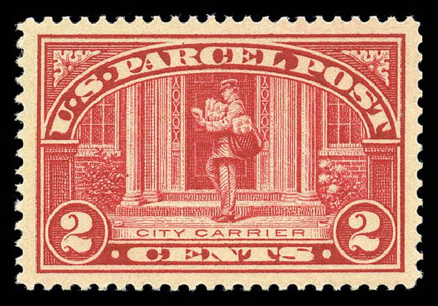 Cost of US Stamp Scott Catalog # Q2: 2c 1913 Parcel Post. Matthew Bennett International, Sep 2010, Sale 333, Lot 4032