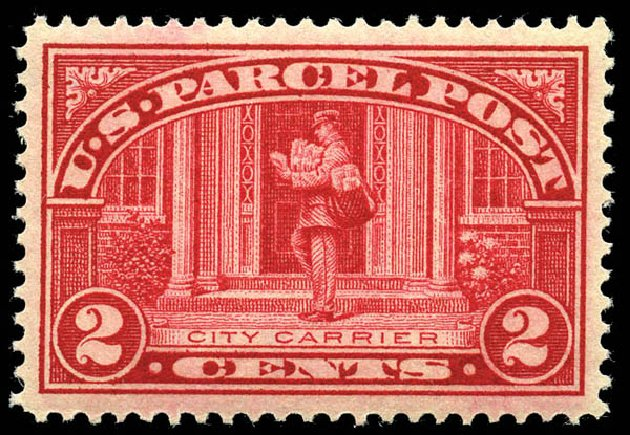 US Stamp Prices Scott Catalogue #Q2 - 2c 1913 Parcel Post. Matthew Bennett International, Feb 2012, Sale 340, Lot 612
