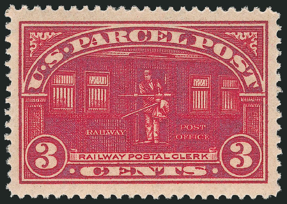 US Stamp Value Scott Catalogue # Q3: 1913 3c Parcel Post. Robert Siegel Auction Galleries, Jul 2013, Sale 1050, Lot 777