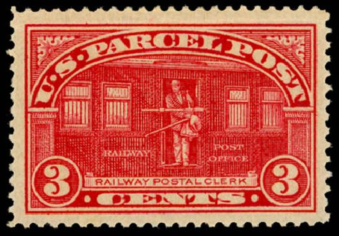 US Stamp Price Scott Cat. # Q3 - 3c 1913 Parcel Post. Daniel Kelleher Auctions, May 2014, Sale 653, Lot 2328