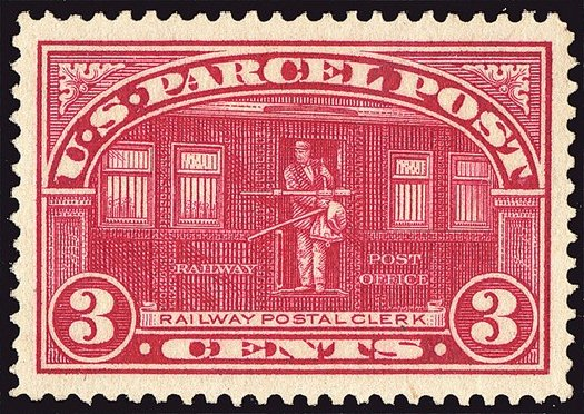 Price of US Stamp Scott Cat. # Q3 - 3c 1913 Parcel Post. Spink Shreves Galleries, Jan 2014, Sale 146, Lot 535