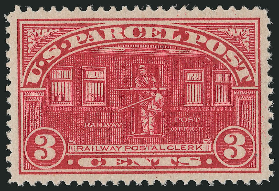 Price of US Stamp Scott Catalogue # Q3 - 3c 1913 Parcel Post. Robert Siegel Auction Galleries, Oct 2011, Sale 1014, Lot 2416
