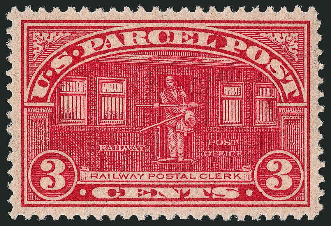 Costs of US Stamps Scott Catalog #Q3: 1913 3c Parcel Post. Robert Siegel Auction Galleries, Jun 2012, Sale 1026, Lot 1556