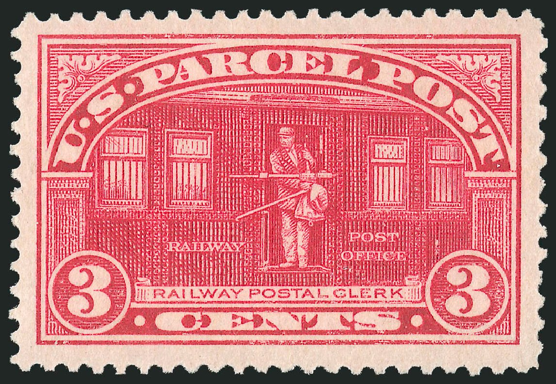 US Stamp Values Scott # Q3 - 1913 3c Parcel Post. Robert Siegel Auction Galleries, Jul 2013, Sale 1050, Lot 776