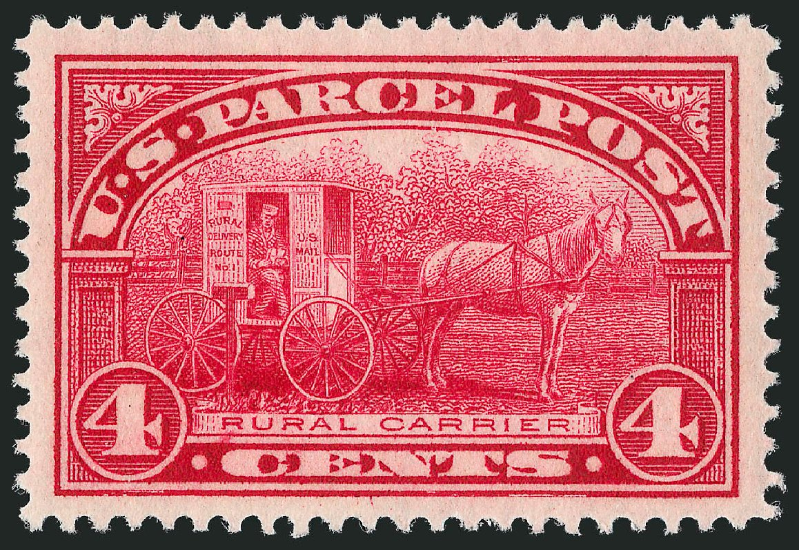 US Stamps Price Scott Cat. Q4 - 4c 1913 Parcel Post. Robert Siegel Auction Galleries, Jun 2012, Sale 1026, Lot 1558