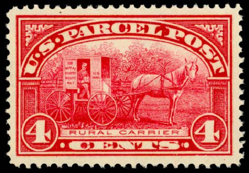 Cost of US Stamp Scott Catalog Q4 - 4c 1913 Parcel Post. Daniel Kelleher Auctions, May 2014, Sale 653, Lot 2329