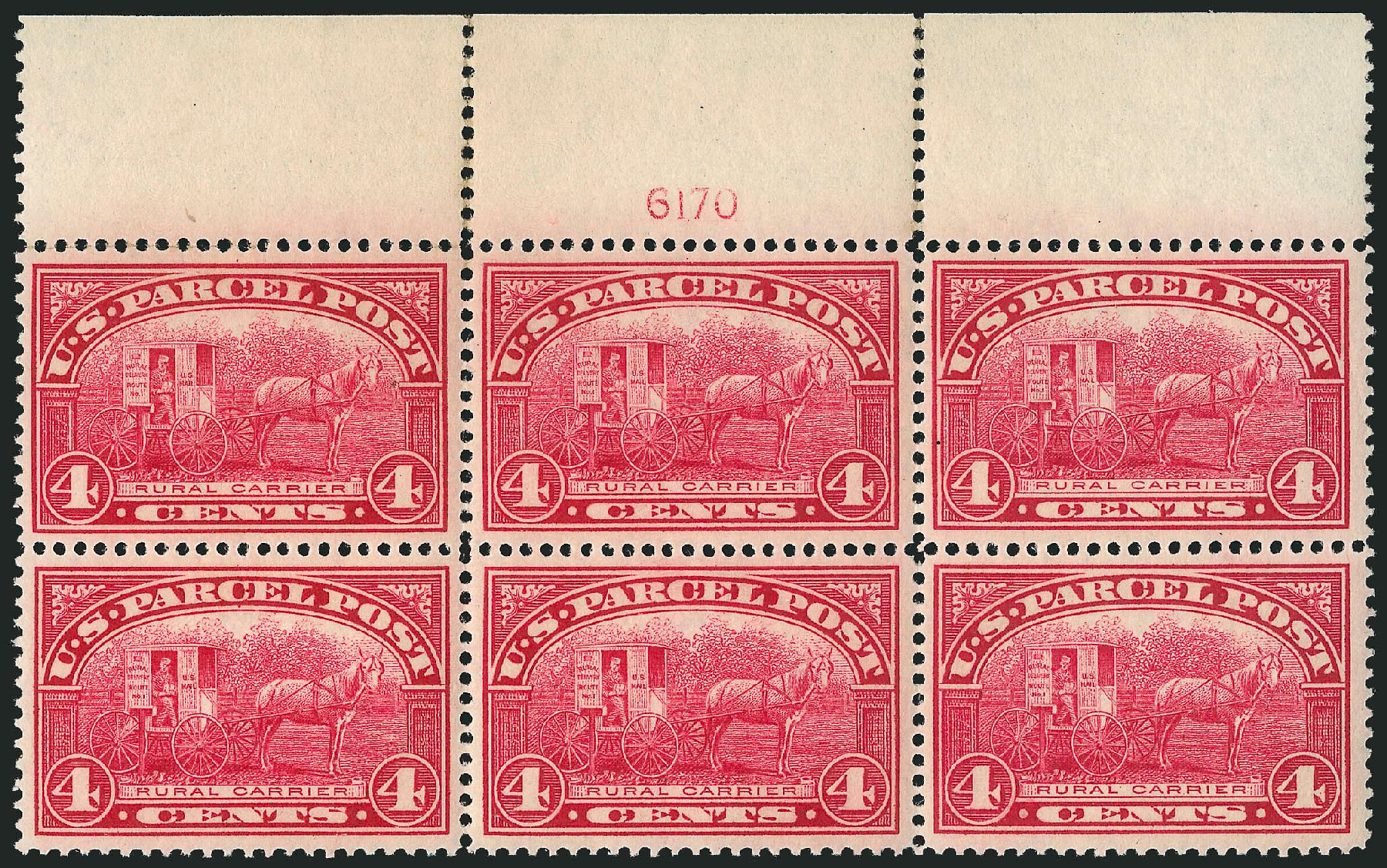 Cost of US Stamps Scott Cat. #Q4: 1913 4c Parcel Post. Robert Siegel Auction Galleries, Mar 2015, Sale 1094, Lot 279
