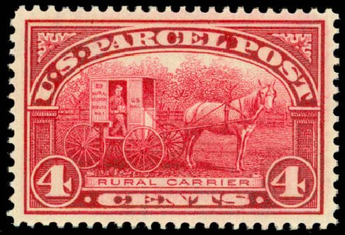 Prices of US Stamps Scott Catalogue # Q4: 1913 4c Parcel Post. Daniel Kelleher Auctions, Sep 2013, Sale 639, Lot 3815