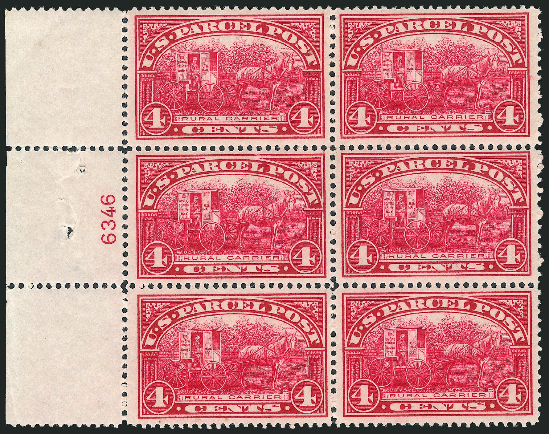 Value of US Stamps Scott Cat. # Q4 - 4c 1913 Parcel Post. Robert Siegel Auction Galleries, Dec 2012, Sale 1037, Lot 2345
