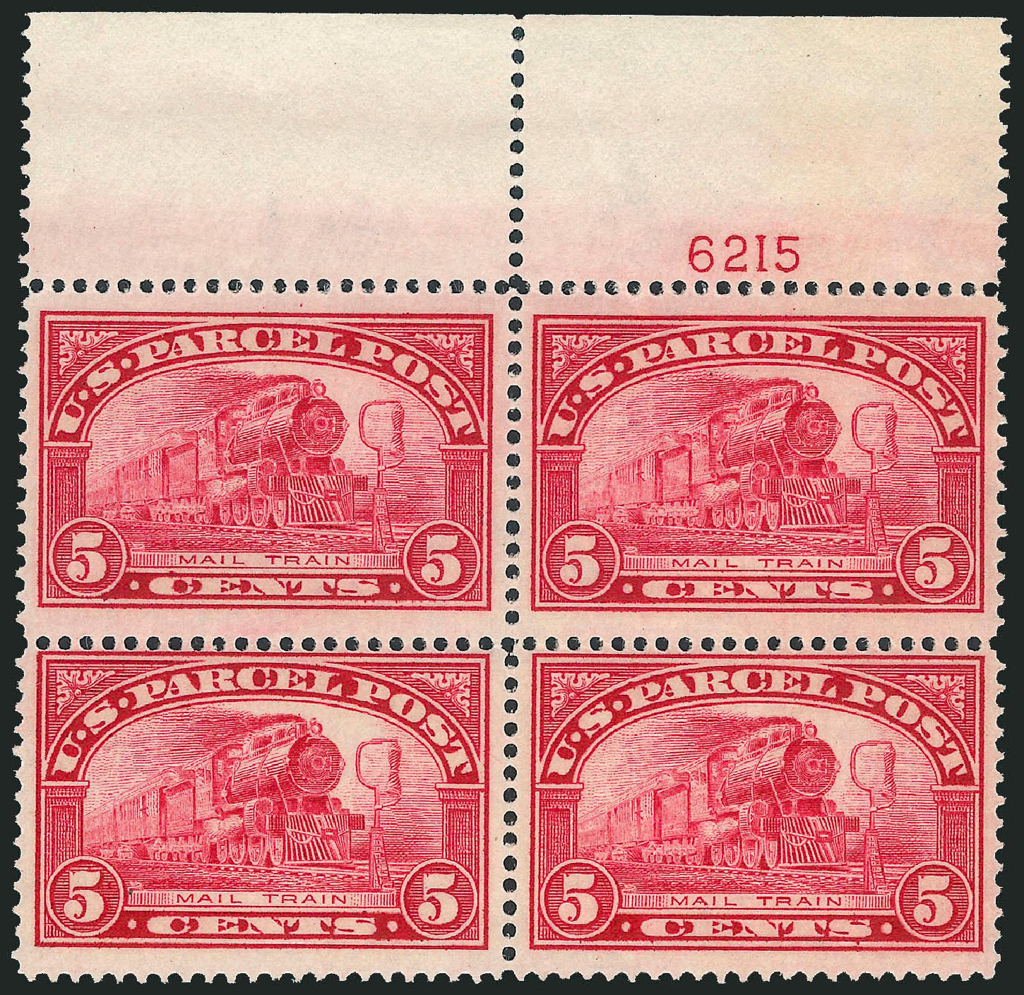 US Stamp Prices Scott Cat. # Q5 - 5c 1913 Parcel Post. Robert Siegel Auction Galleries, Dec 2012, Sale 1037, Lot 2347
