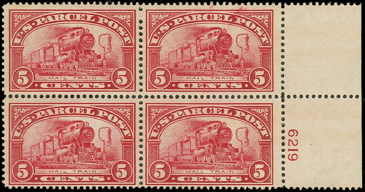 US Stamps Price Scott #Q5: 5c 1913 Parcel Post. H.R. Harmer, Oct 2014, Sale 3006, Lot 1539