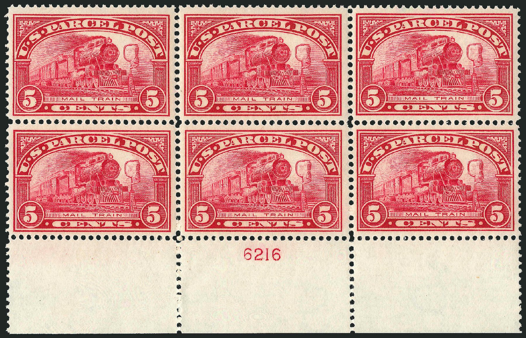 US Stamp Prices Scott Cat. # Q5 - 5c 1913 Parcel Post. Robert Siegel Auction Galleries, Mar 2015, Sale 1094, Lot 280