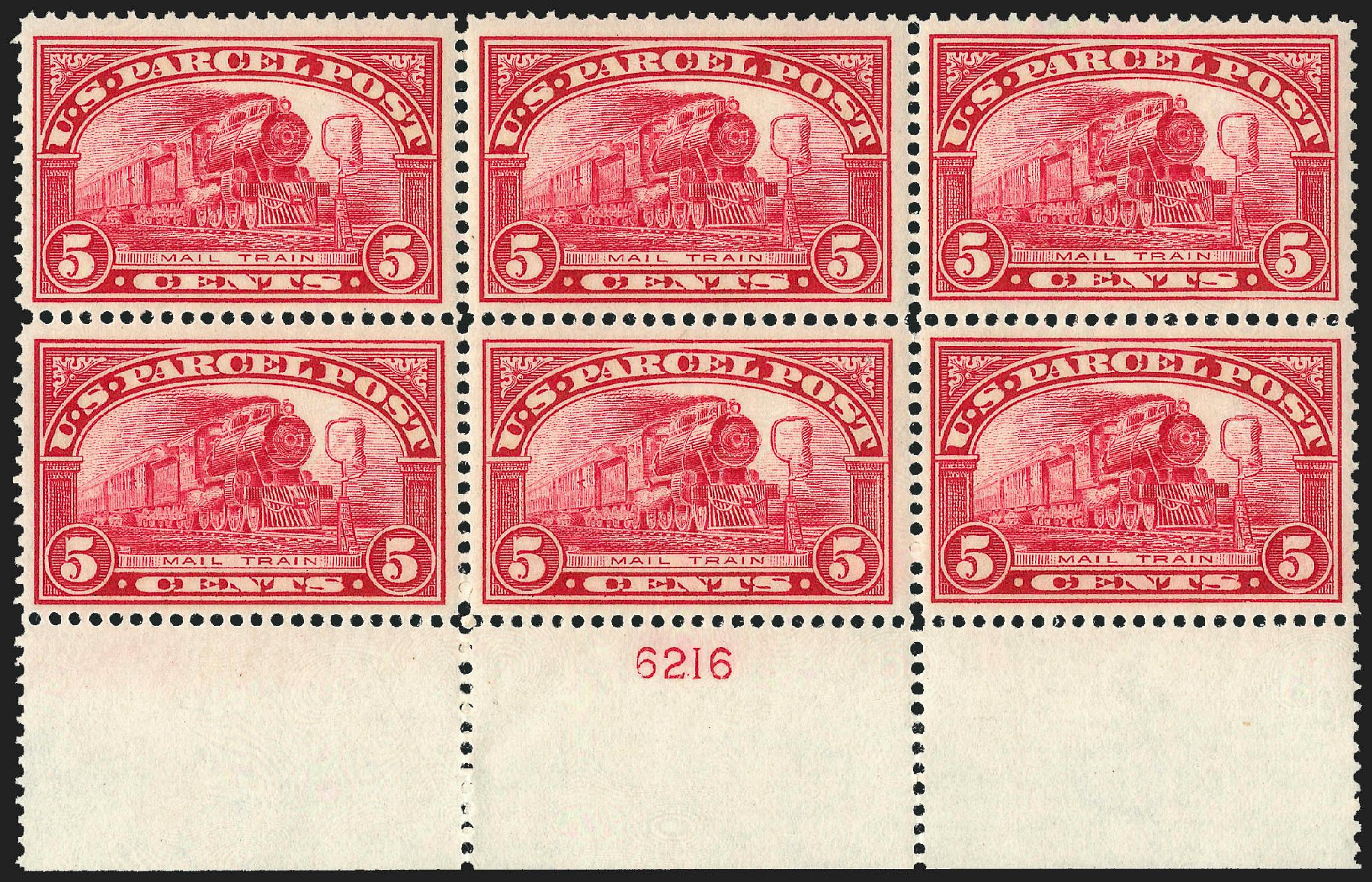 Costs of US Stamps Scott #Q5 - 1913 5c Parcel Post. Robert Siegel Auction Galleries, Jul 2015, Sale 1107, Lot 640
