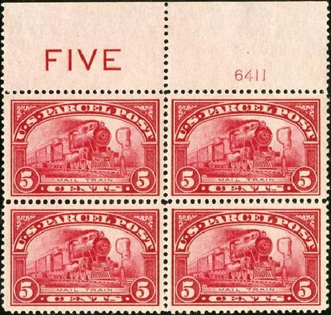 Price of US Stamps Scott Catalogue # Q5 - 1913 5c Parcel Post. Spink Shreves Galleries, Jan 2015, Sale 150, Lot 270