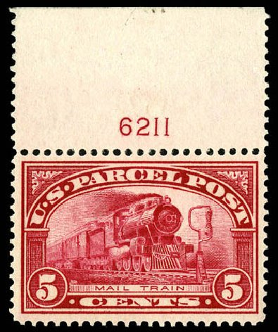 Value of US Stamps Scott Catalog # Q5 - 5c 1913 Parcel Post. Matthew Bennett International, Dec 2008, Sale 330, Lot 1941