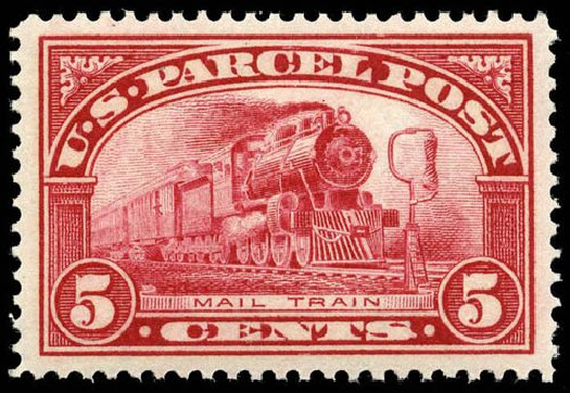 US Stamp Prices Scott Catalogue #Q5 - 5c 1913 Parcel Post. Matthew Bennett International, Apr 2008, Sale 326, Lot 724