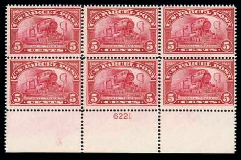 US Stamps Value Scott Catalogue #Q5: 1913 5c Parcel Post. Matthew Bennett International, Dec 2007, Sale 325, Lot 2545