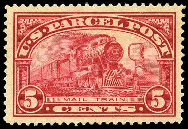 US Stamp Value Scott Catalog #Q5 - 1913 5c Parcel Post. Matthew Bennett International, May 2014, Sale 350, Lot 712