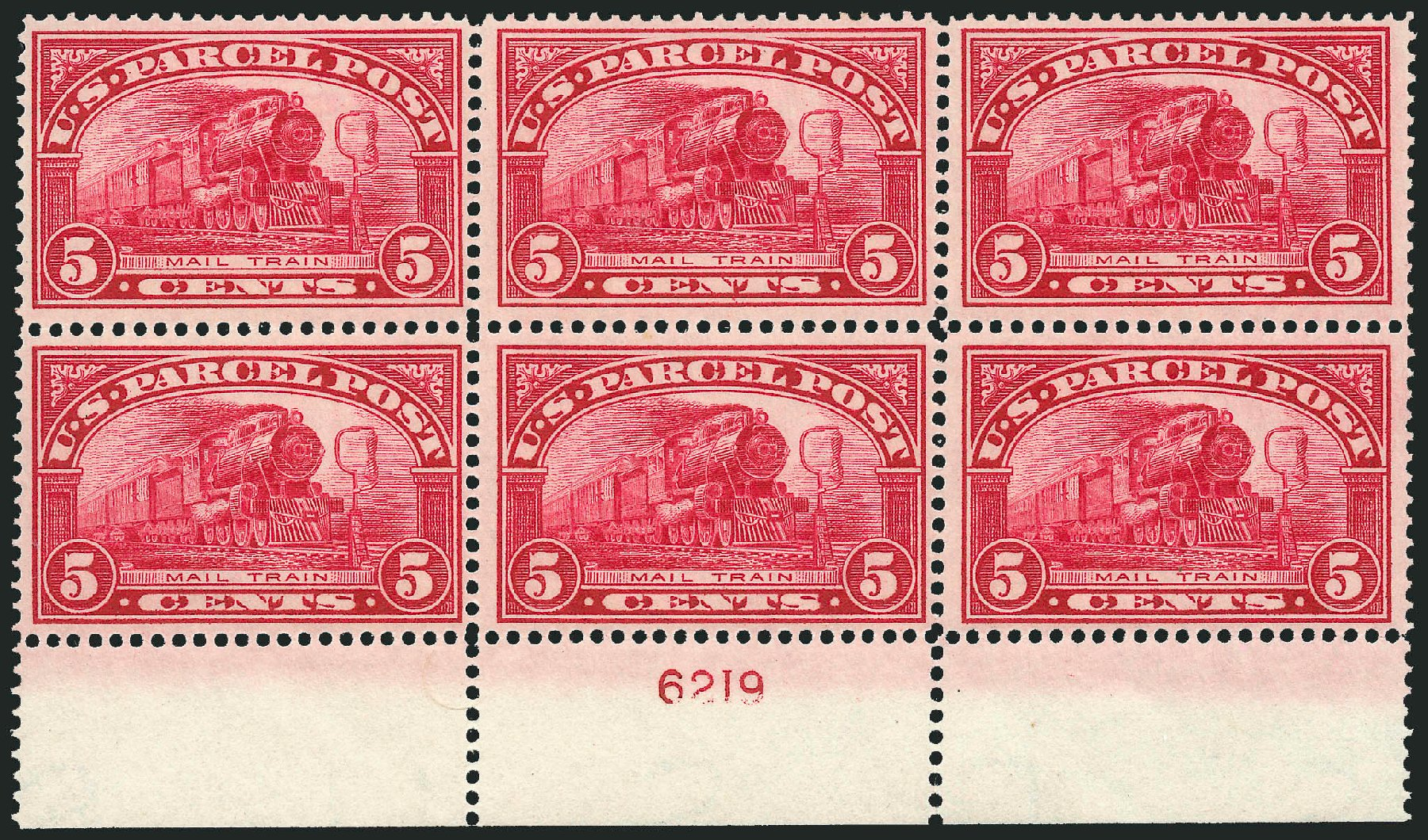 US Stamp Price Scott Catalog Q5: 1913 5c Parcel Post. Robert Siegel Auction Galleries, Apr 2014, Sale 1068, Lot 432